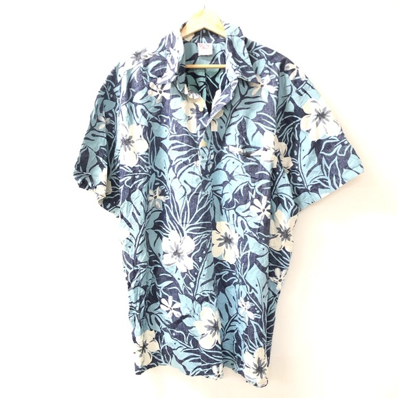 6300aa38 Vintage Shirts | Barefoot Paradise 2xl Tall Floral Hawaiian Shirt ...